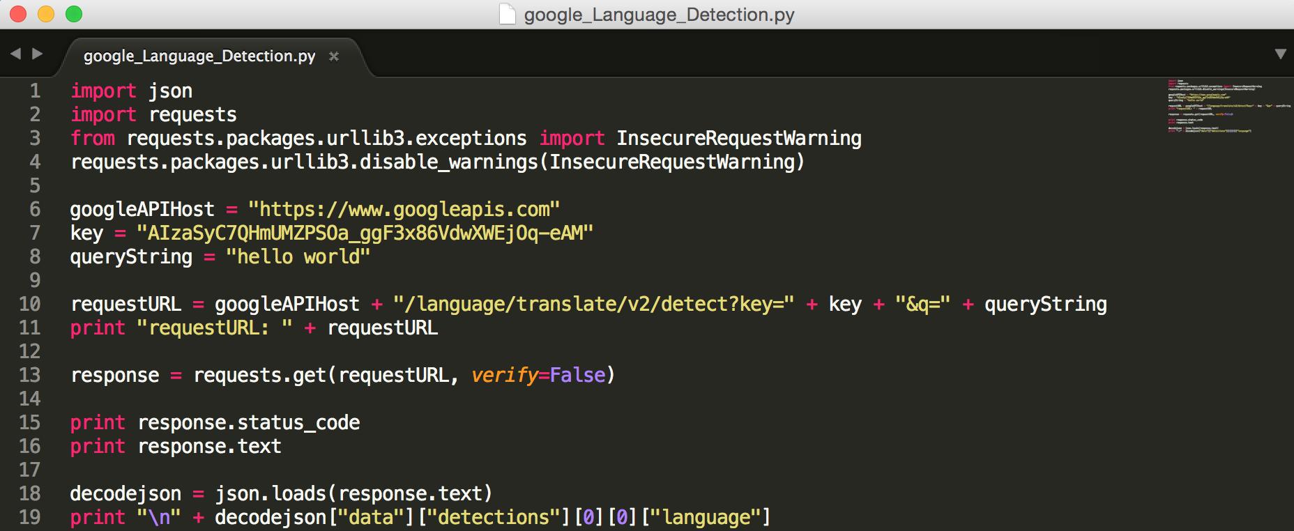 Linkit Smart 7688 ] 透過Python 使用Google Language Detection